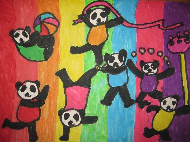 绿菠萝班宝宝美术作品 - 全托幼儿园-办学体系 - 市